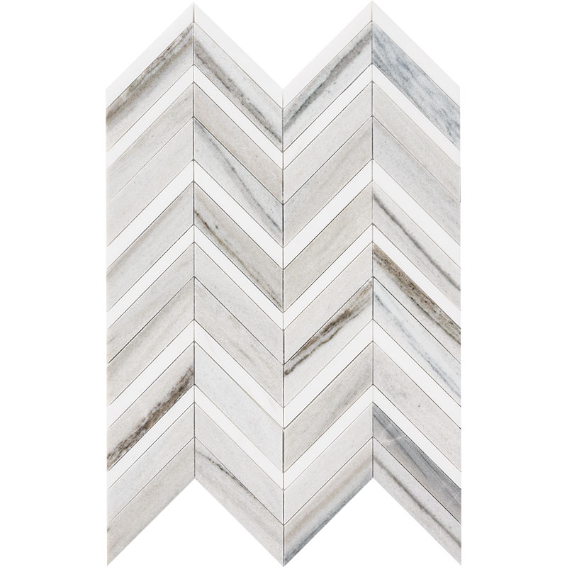 Skyline Light Honed&polished 30,5x29 Chevron Fusion Marble Waterjet Decos