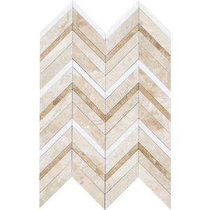 Diana Royal Honed&polished Chevron Fusion Marble Mosaics 30,2x40,6