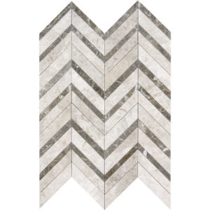 Silver Shadow Honed&polished Chevron Fusion Marble Mosaics 30,2x40,6