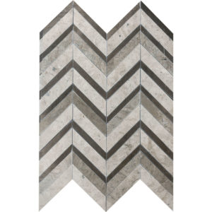 Bosphorus Honed Chevron Fusion Limestone Mosaics 30,2x40,6