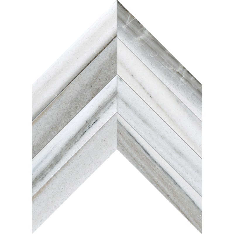 Skyline Vein Cut Polished 6,35x16,43 Chevron Marble Waterjet Decos