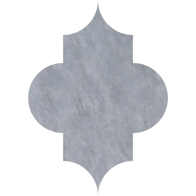 Allure Light Polished 20x27,94 Arabesque Marble Waterjet Decos