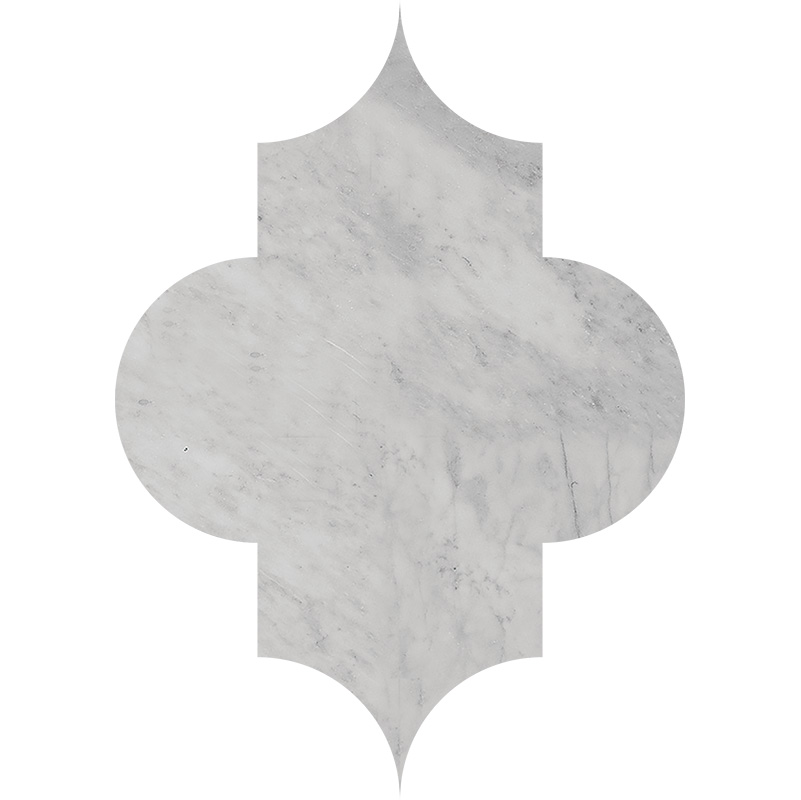 Avenza Honed 20x27,94 Arabesque Marble Waterjet Decos