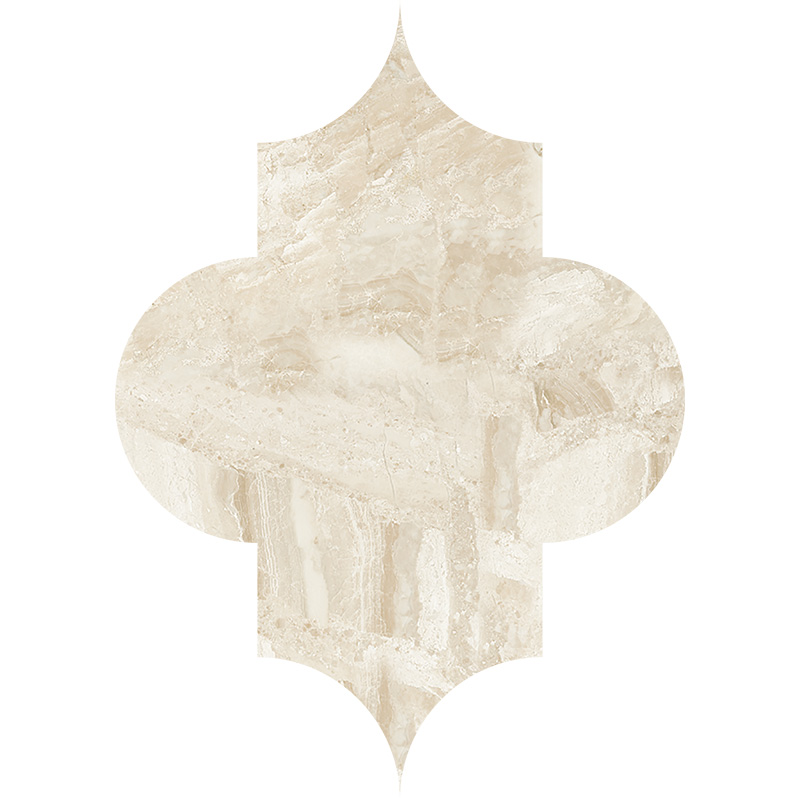 Diana Royal Honed 20x27,94 Arabesque Marble Waterjet Decos