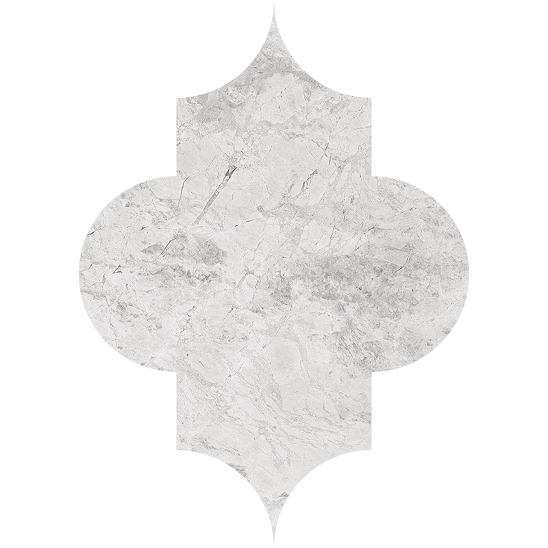 Silver Clouds Polished 20x27,94 Arabesque Marble Waterjet Decos
