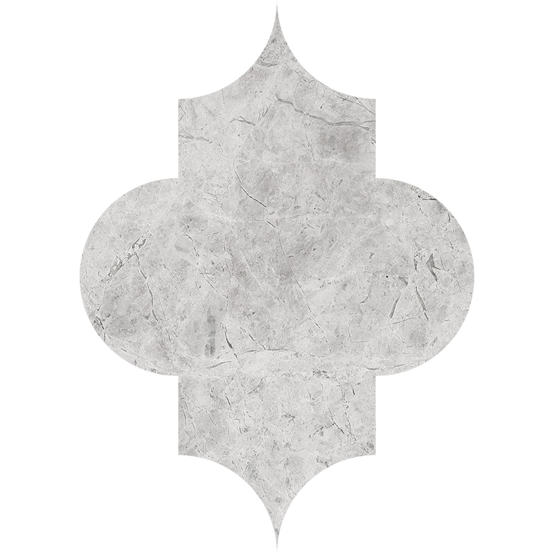 Silver Shadow Honed 20x27,94 Arabesque Marble Waterjet Decos