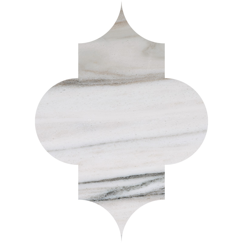 Skyline Polished 20x27,94 Arabesque Marble Waterjet Decos