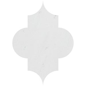 Aspen White Honed Arabesquette Marble Waterjet Decos