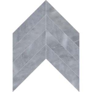 Allure Light Polished Chevron Marble Waterjet Decos 33x25,4