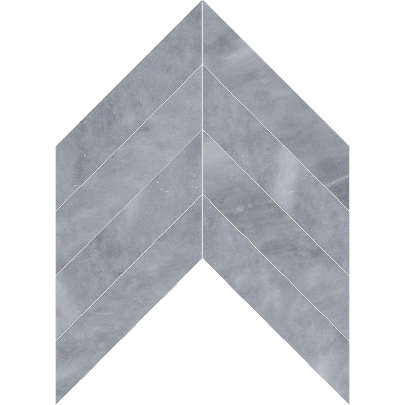 Allure Light Polished 6,35x16,43 Chevron Marble Waterjet Decos
