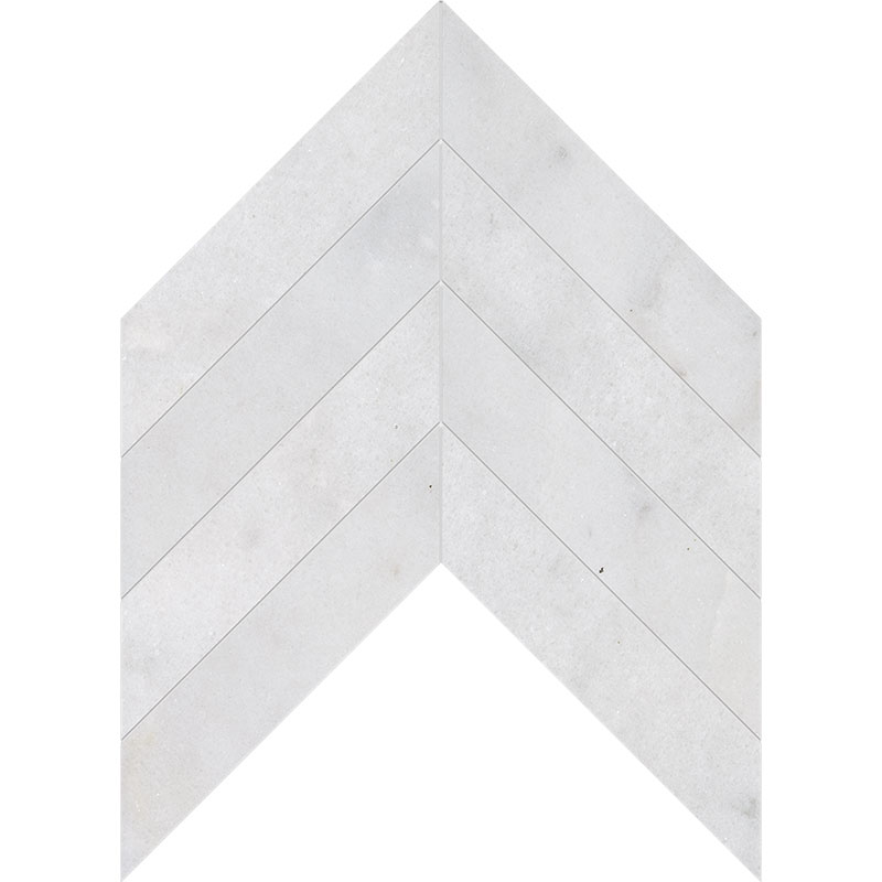 Avalon Polished 6,35x16,43 Chevron Marble Waterjet Decos