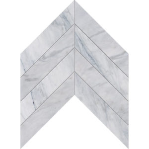Avenza Honed Chevron Marble Waterjet Decos 33x25,4