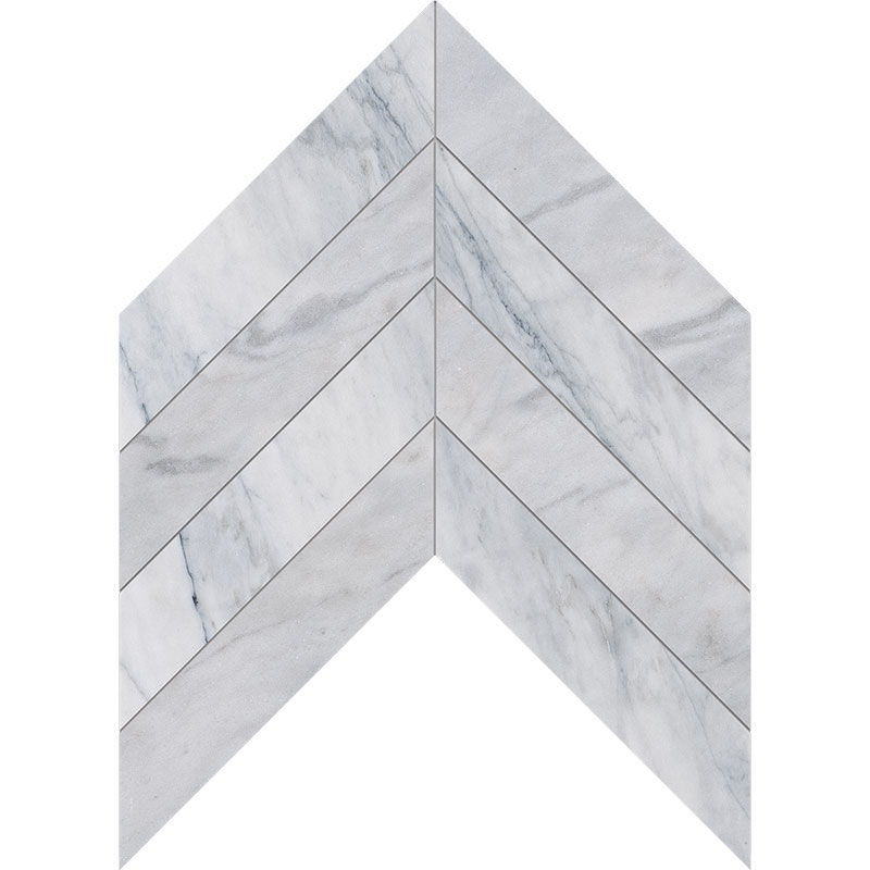 Avenza Honed 6,35x16,43 Chevron Marble Waterjet Decos