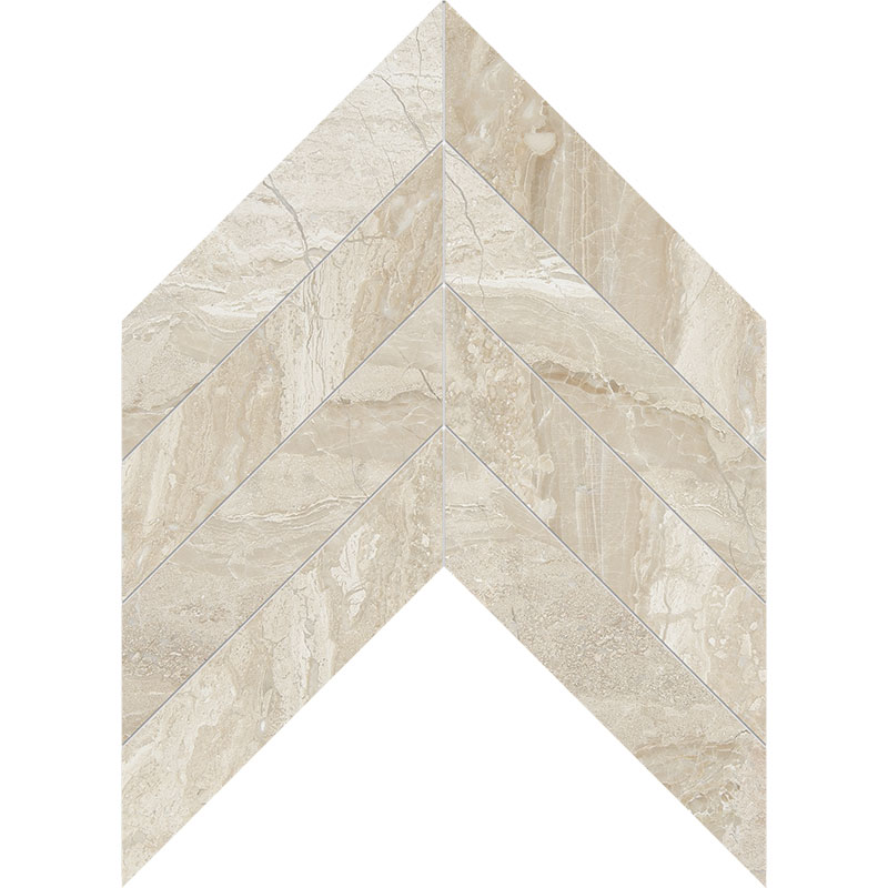 Diana Royal Honed 6,35x16,43 Chevron Marble Waterjet Decos