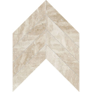 Diana Royal Polished Chevron Marble Waterjet Decos 33x25,4