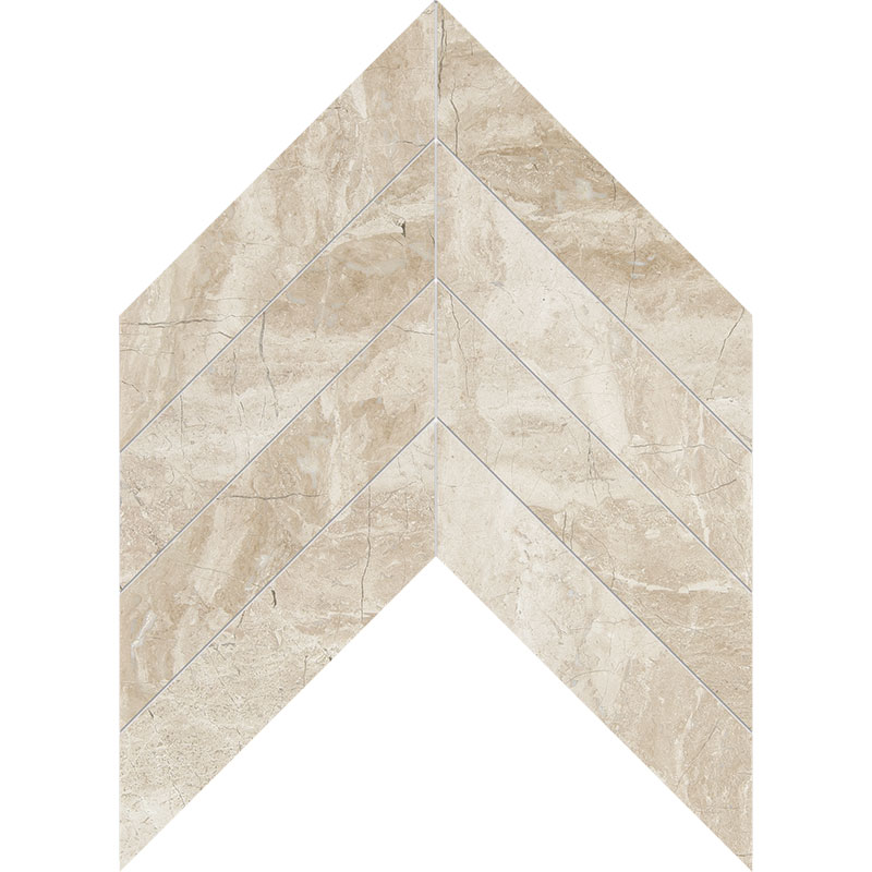 Diana Royal Polished 6,35x16,43 Chevron Marble Waterjet Decos