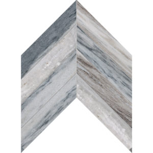 Palisandra Polished Chevron Marble Waterjet Decos 33x25,4