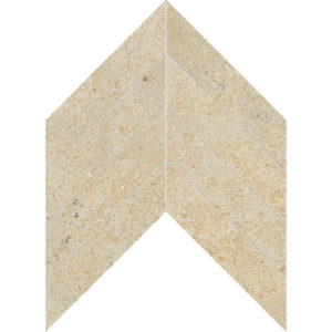 Seashell Honed Chevron Limestone Waterjet Decos 33x25,4