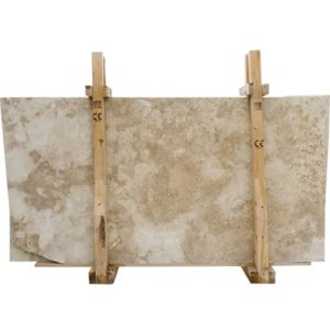 Ivory Classic Honed&filled Travertine Slab Custom