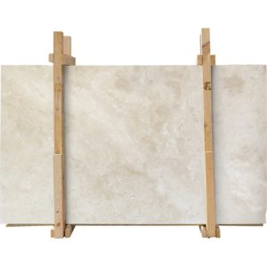 Ivory Light Honed&filled Travertine Slab Custom