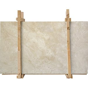 Ivory Honed&filled Travertine Slab Custom