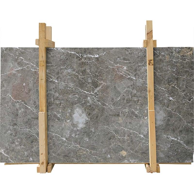 Silver Drop Polished Marble Slab Custom