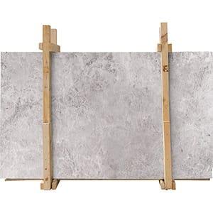 New Tundra Gray Polished Marble Slab Custom