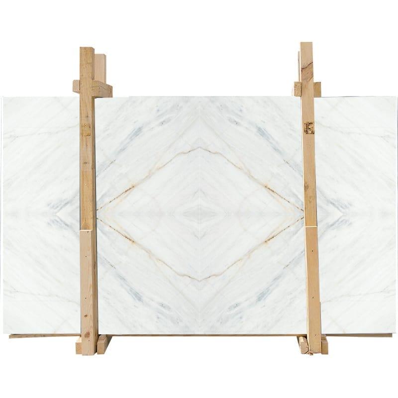 Fantasy White Honed Marble Slab Custom