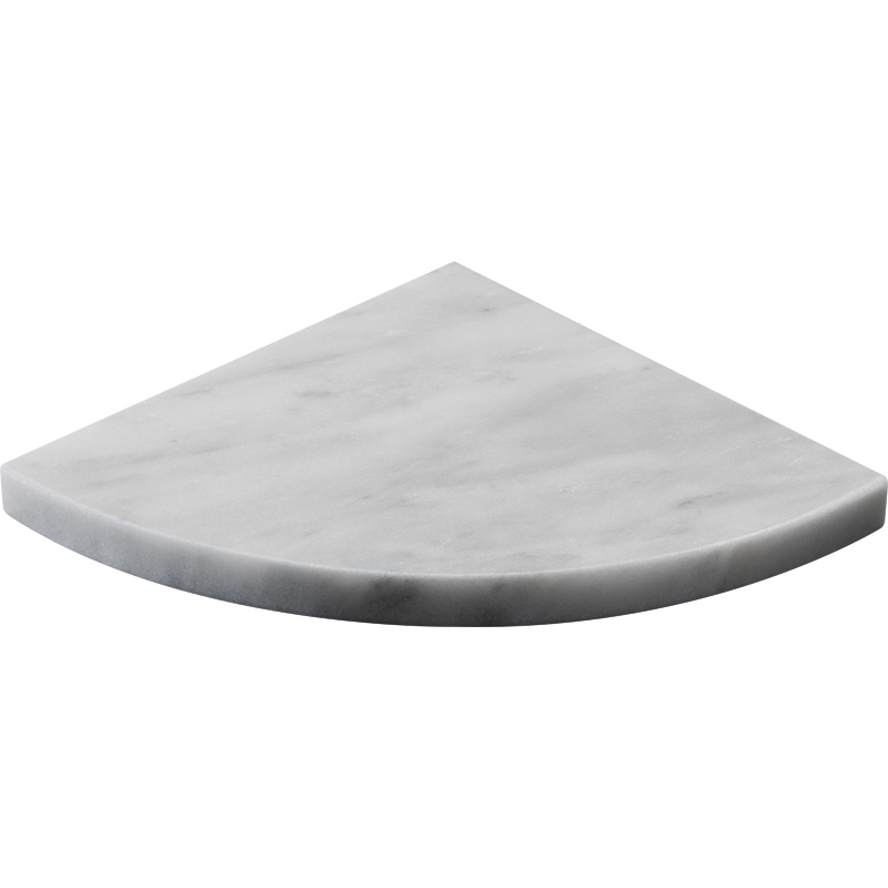 Avenza Honed Marble Corner Shelves 20x20
