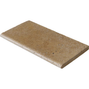 Walnut Dark Tumbled Pool Coping Travertine Pool Copings 30,5x61