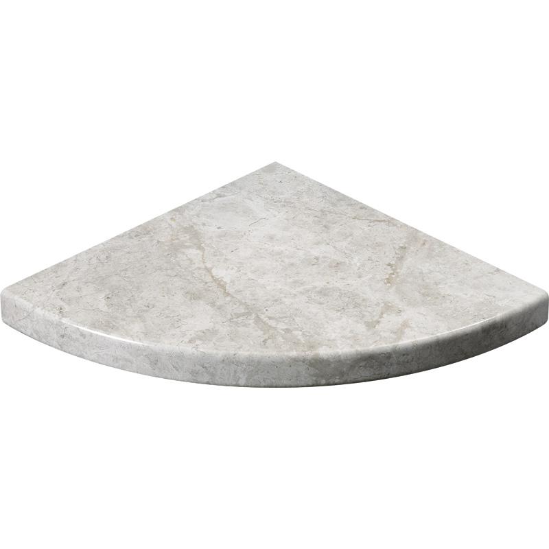 Silver Shadow Polished Marble Corner Shelves 20x20