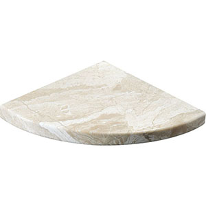 Diana Royal Honed Marble Corner Shelves 20x20