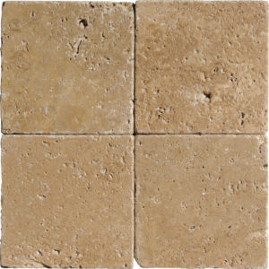Walnut Dark Tumbled Travertine Tiles 10x10
