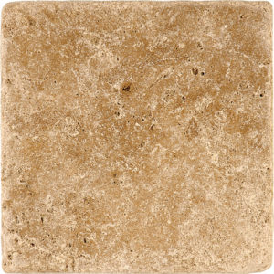 Walnut Dark Tumbled Travertine Tiles 15,2x15,2