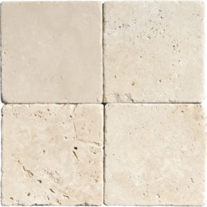 Ivory Tumbled Travertine Tiles 10x10