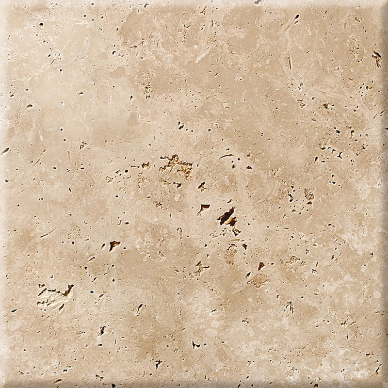 Ivory Antiqued Travertine Tiles 40,6x40,6
