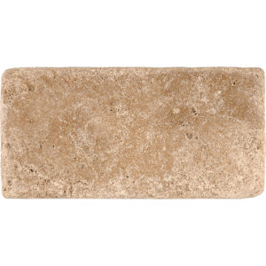 Walnut Dark Tumbled Travertine Tiles 7,6x15,2