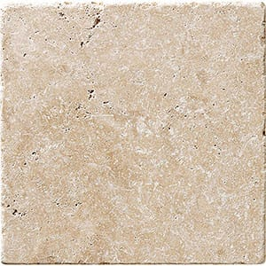 Ivory Tumbled Travertine Tiles 20x20