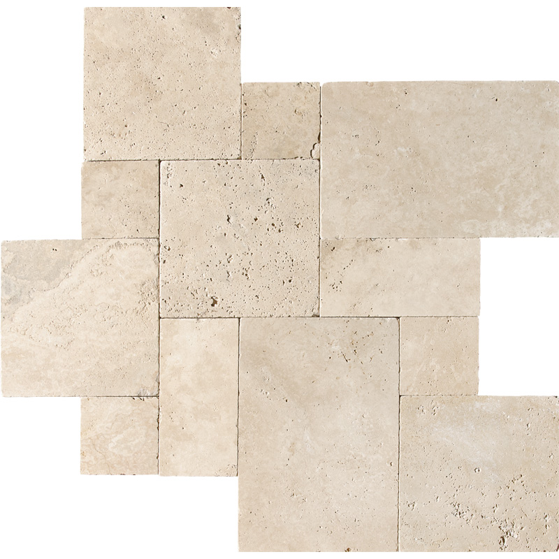 Ivory Tumbled Travertine Patterns Versailles Pattern Tureks