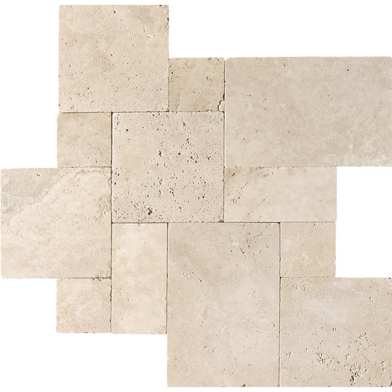 Ivory Tumbled Travertine Patterns Versailles Pattern Tureks