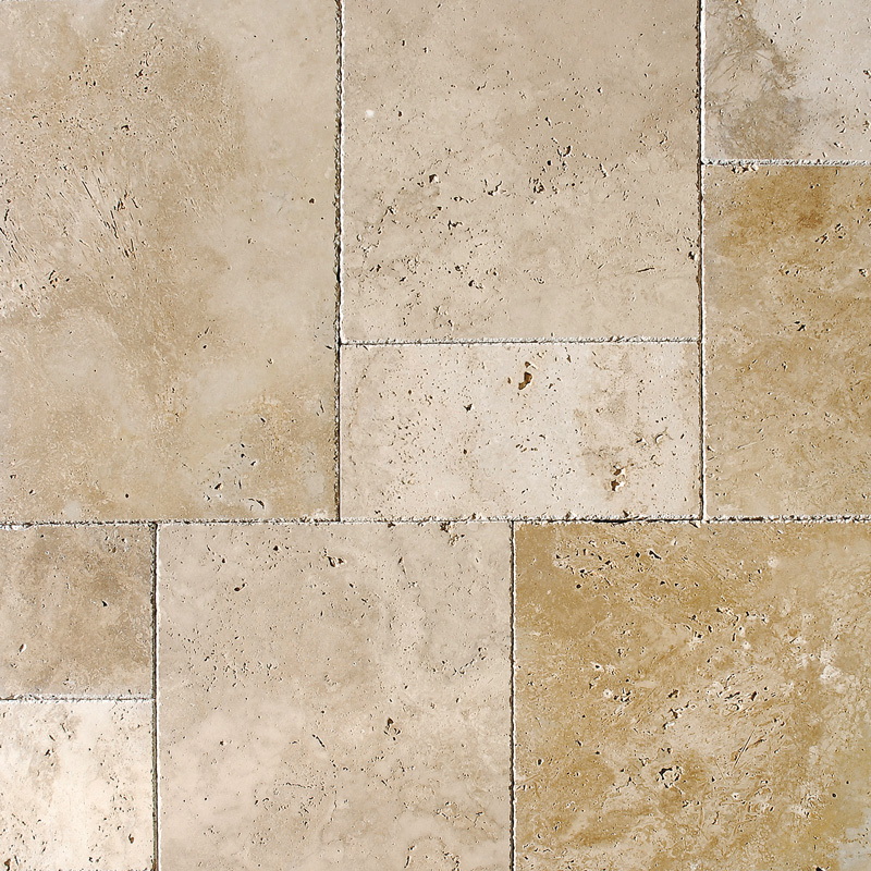 Ivory Pave Real Travertine Patterns Versailles Pattern