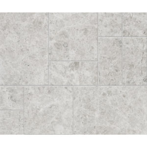 Silver Shadow Antiqued Marble Patterns Versailles Pattern