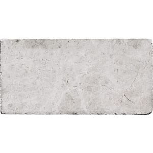 Silver Shadow Tumbled Marble Pavers 15,2x30,5