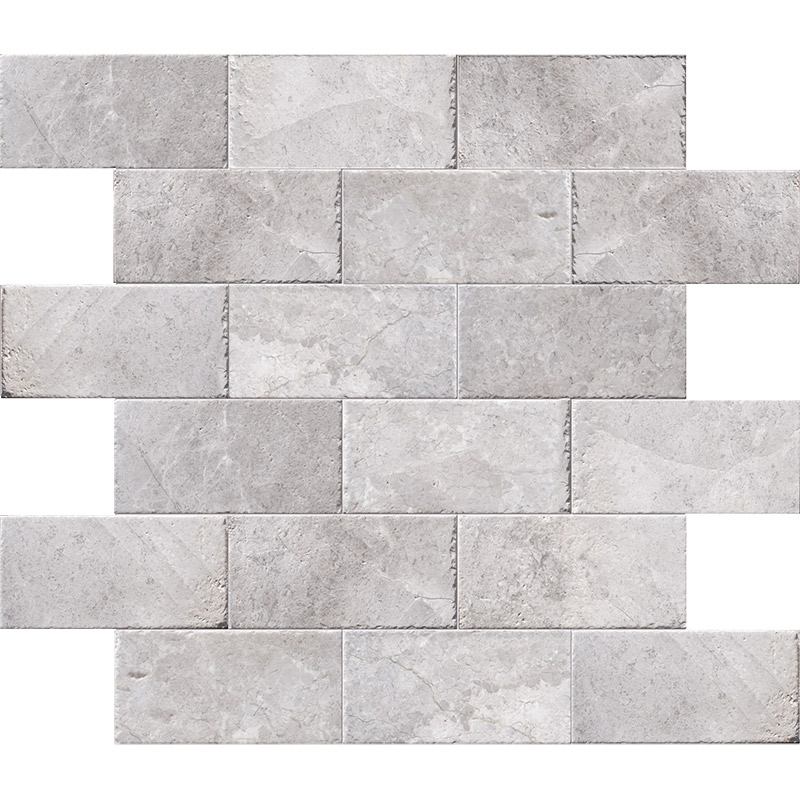 New Silver Shadow Brushed Marble Pavers 15,2×30,5