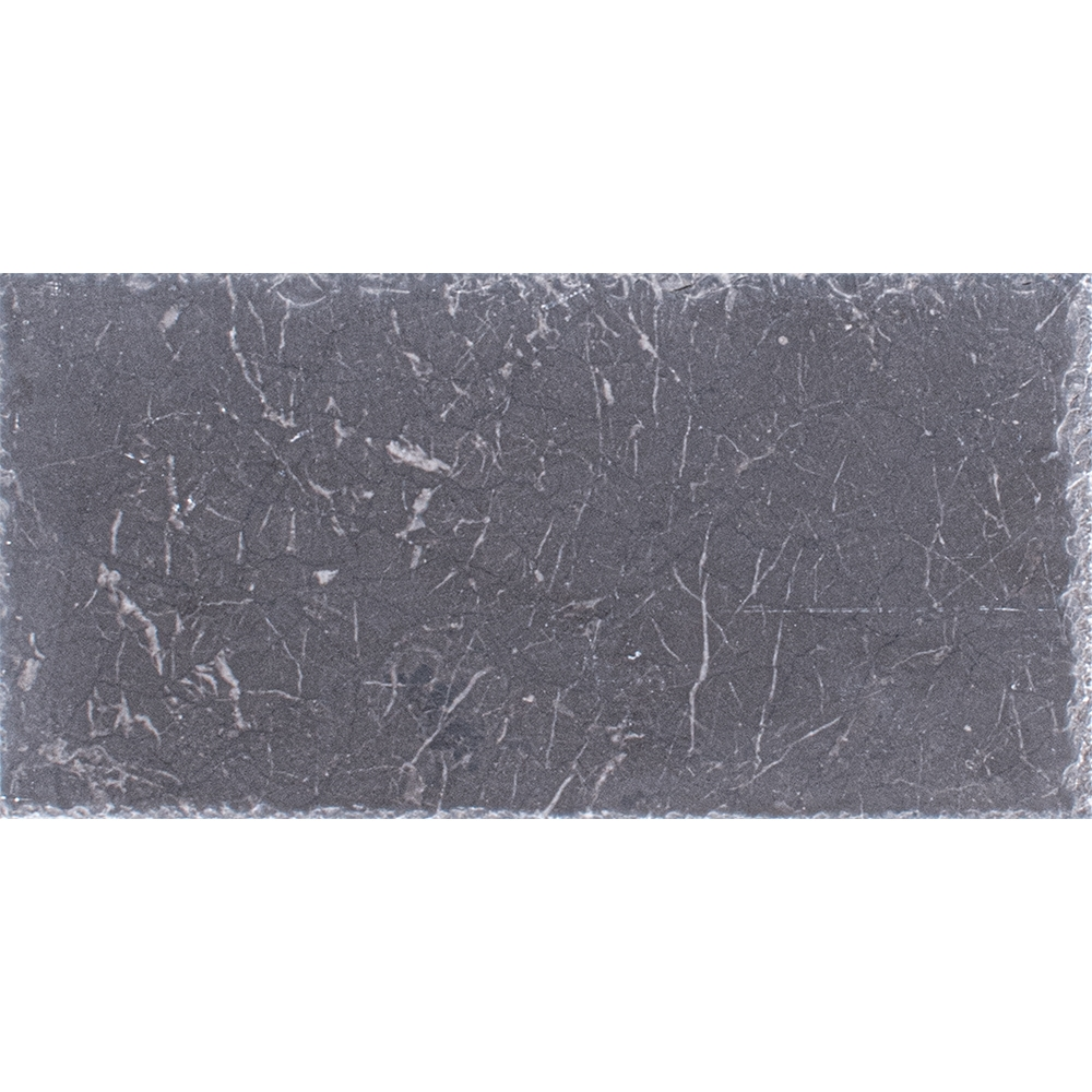 Iris Black Brushed Marble Pavers 15,2×30,5