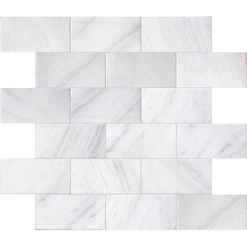 Fantasy White Brushed Marble Pavers 15,2×30,5