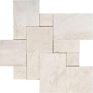 Diana Royal Textura Marble Pavers Versailles Pattern