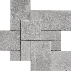 Iris Black Textura Marble Pavers Versailles Pattern