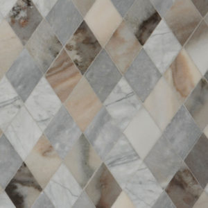 Afyon Grey, Avenza Dark, Palisandra Multi Finish Almas Marble Waterjet Decos 23,65x26,6