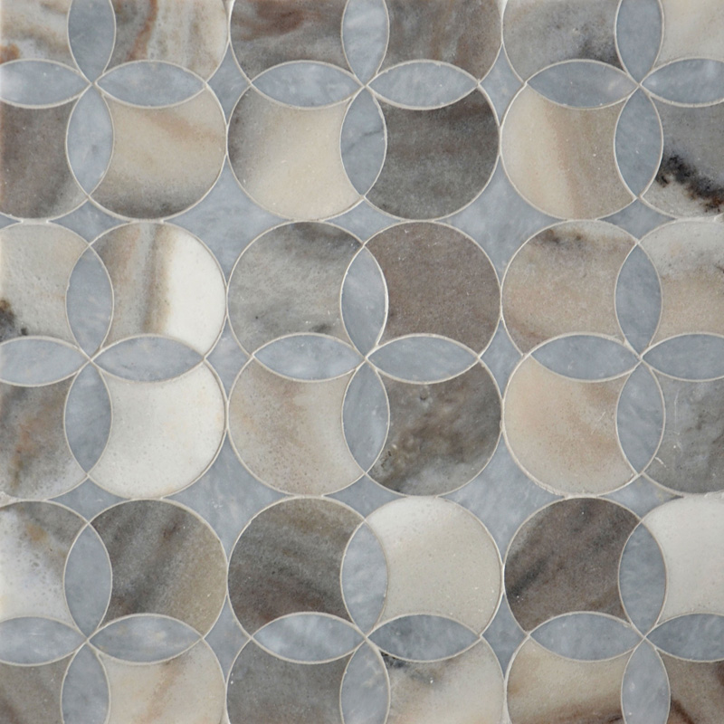 Afyon Grey, Palisandra Multi Finish 34,52x34,52 Constantine Marble Waterjet Decos